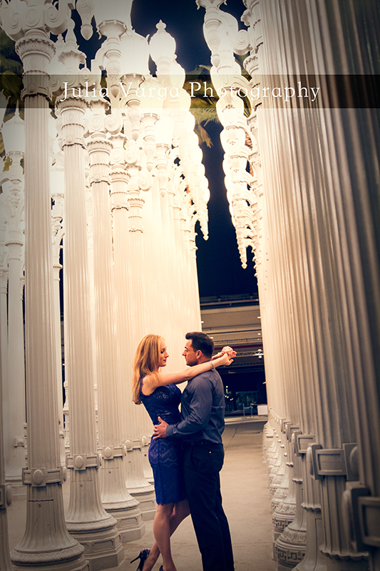 los angeles engagement photography, engagement portraits, santa monica engagement portraits, lacma, urban lights, lacma engagement pictures